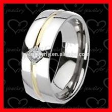 new design titanium silver 316l stainless steel men's wedding rings wholesale