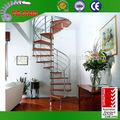 de interior en espiral de metal de la escalera