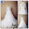jj3570 più nuovo di alta classe collo alto maniche lunghe di pizzo abiti da sposa in turchia