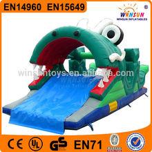 Hot sale wholesale dragon inflatable floating pool slide
