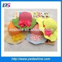 wholesale high quality children beach straw hat MZ1084