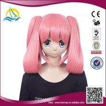 Good quality kanekalon japanese anime cosplay pink wig