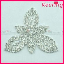 Royal wedding bridal trefoil flower rhinestone embellishments WRE-181