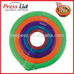 PressLid vacuum plastic food container sealer
