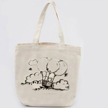 Gift pvc coated cotton shopping tote bags