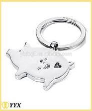 High polished hooks for key chain metal keychain charm tags mobile phone key chain