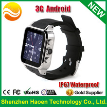 Factory Cheapest Android hand watch mobile phone, Watch mobile phone MTK6572 Dual core Waterproof