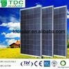 2014 Hot sales cheap price transparent glass solar panel/solar module