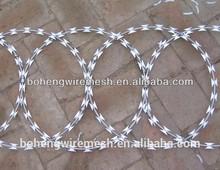 Arame farpado de aço inoxidável plana envoltório