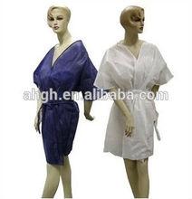 disposable white color nice Non Woven woman Kimono