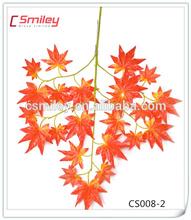 Plastic red Artificial Leaves(CS008-2)