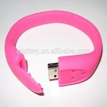 1gb usb bracelet/bracelet bulk 1gb usb flash drives/silicon usb bracelet,free samples