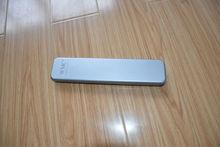 Silver Thin Metal Rectangle Pencil Tin Case
