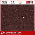 Crystal dark red ARTIFICIAL QUARTZ STONE SLABS countertop QZ816