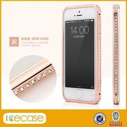 Luxurious Diamond bumper case with rhinestone crystal diamond bumper for iphone5 case