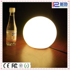 Round RGB full colour rechargeable IP68 led light bases for acrylic