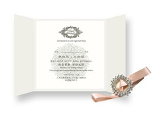 chinese factory attractive wedding invitation card