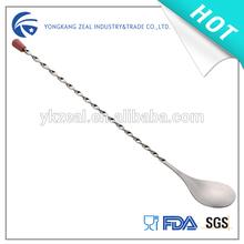zeal SP013B stainless steel mixing spoon for cocktail wine ice tea milk coffee beverage