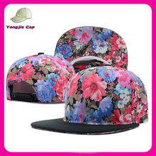 Hawaii Floral Printing Flower Snapback Hats Custom