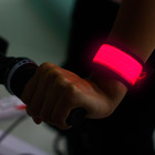 2014 hot novelty items sports led slap colored arm bands for running