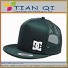 green 5panel mesh cap for ventilate cap promotional flat brim mesh cap