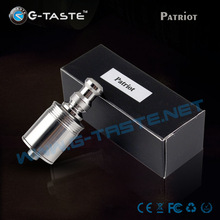 2014 Newest arrival laser engraved logo huge vapor no burning smell rba patriot atomizer
