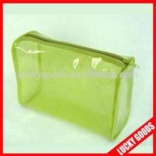 wholesale clear light green custom pvc zip pouch