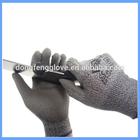 level 5 PU palm coated anti cut work gloves used in farm