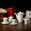 Chaozhou white glazed chinese promotional gift ceramic tea set