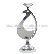 Peacock shape metal candlestick metal candle holder crafts for wedding decoration