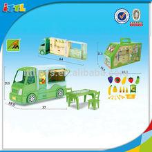 Hot Selling Lovely Fruit Cart Play House For Kids Plastic Fruit Car Toy