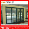 aluminum interior sliding entry door with tempered glass