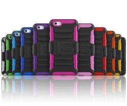 waterproof stand tpu case for iphone 6 case TPU+PC heavy duty kickstand case