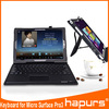 Hapurs 2014 new design PU leather case covers mini wireless bluetooth computer Keyboard for Microsoft Surface pro 3