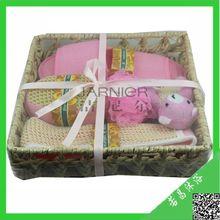 Professional Willow Basket Bath Gift Set/bedroom bath sets/spa sets(BABS-1030)