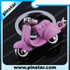 Creative Key Chain Mini Pink Soft PVC Covered Motorcycle Keychain Key Ring For Gift Accessories