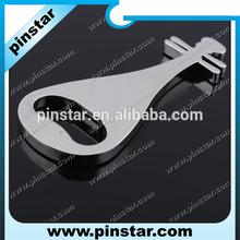 2014 New Custom Metal smooth surface blasting guitar music bottle opener keychain