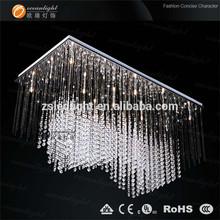 Flat chain crystal golden celling light,modern hall ceiling lamps,modern led light OM940