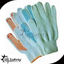 SRSafety Safety White Cotton Working Glove/Dotted cotton glove
