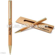 bamboo pen in single pen card box,novelty bamboo pen