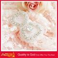 nueva llegada de la boda vestido de ab piedra decorativa de moda nupcial de corte brillante y libre de la mano de patrones de bordado