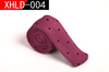 Men Knitted Slim Flat Tie Narrow Necktie Navy Black Dot knitted tie
