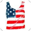 hot sale ladies' American flag printing sleeveless crop t shirt , 100% polyester women's vest, tank tops wholesale