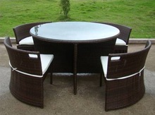 patio luxury round noble house furniture metal dining set