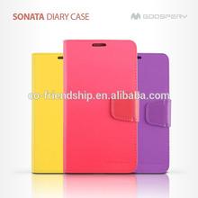 mercury goospery SONATA diary leather wallet case for Samsung Galaxy S4 i9500