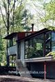 La casa del ambiente agradable prefabricada villa con vidrio