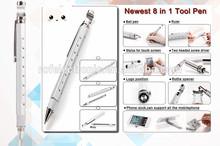 tech tool pen with bottle opener +ballpen+ruler+stand+screw driver+touch pen