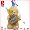 Christmas tree plush bear hold gift decoration mini toy