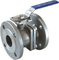 casting steel 2pc flange ball valve(DIN) with mounting pad manufacture in China