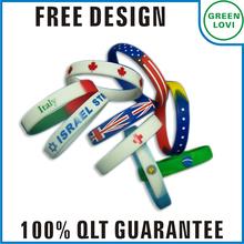 Free design Japan quality standard 2014 world cup silicone slap bracelets